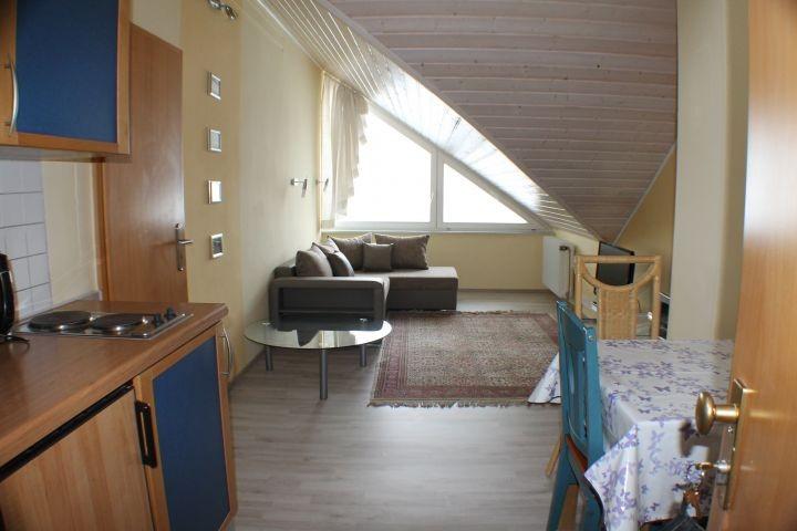 Wohnzimmer mit Küchenzeile und Essplatz