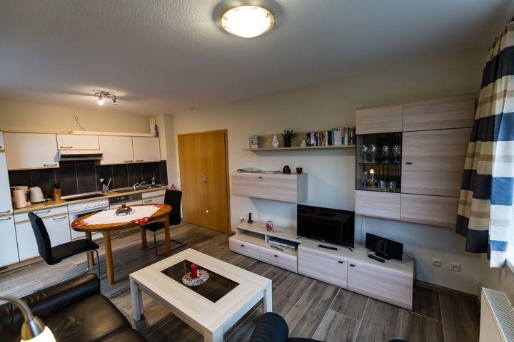 Wohnbereich und Küchenbereich