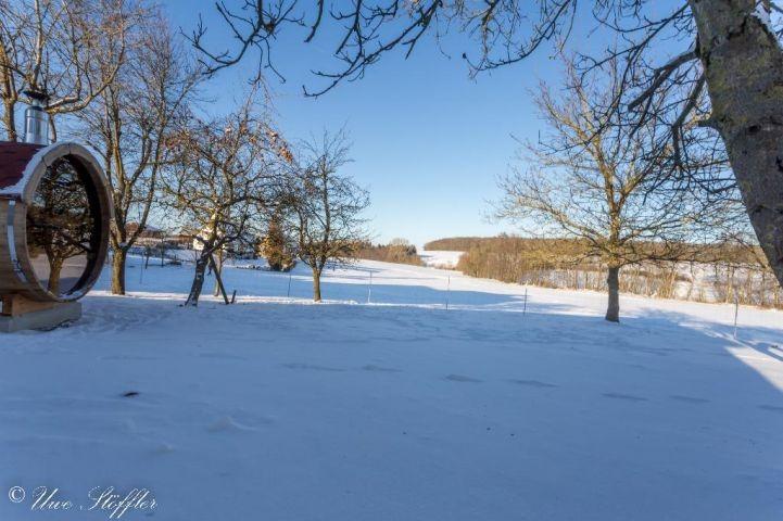 Grundstück im Winterkleid