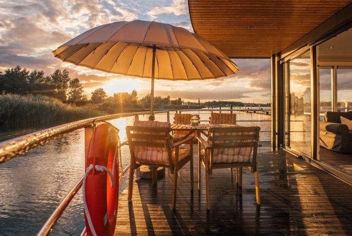 Terrasse Hausboot