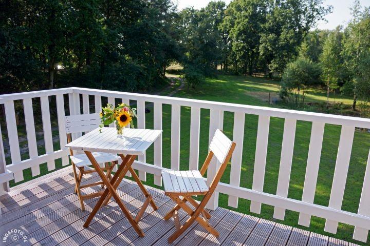 idyllischer Platz auf dem Balkon