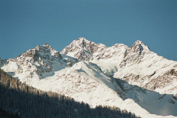 Blick auf den Gletscher vom Balkon