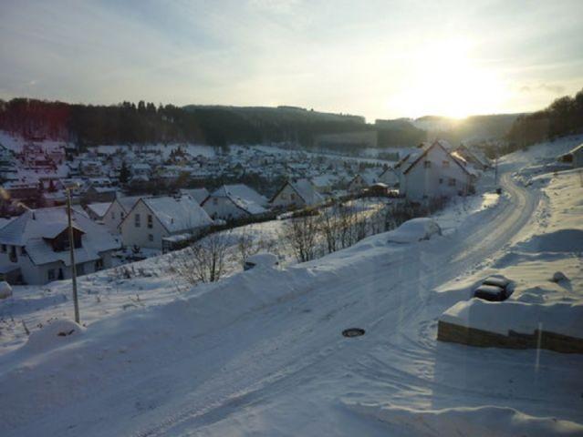 Ausblick bei Schnee