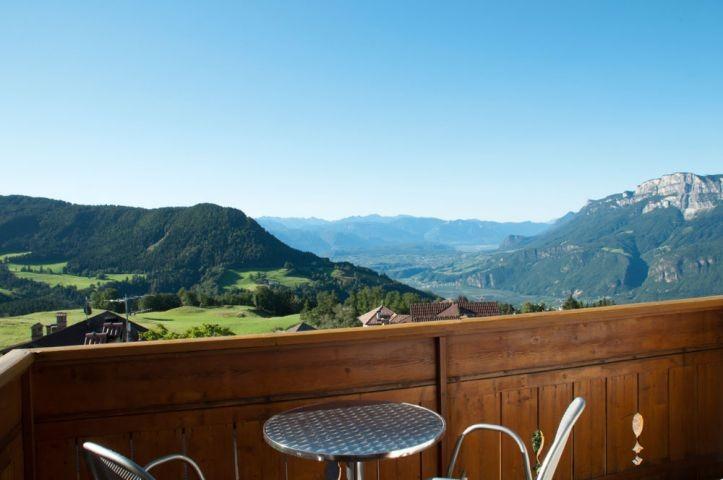 """Atemberaubender Blick auf die umliegende Bergwelt vom Südbalkon App. Typ """"Mölten"""""""