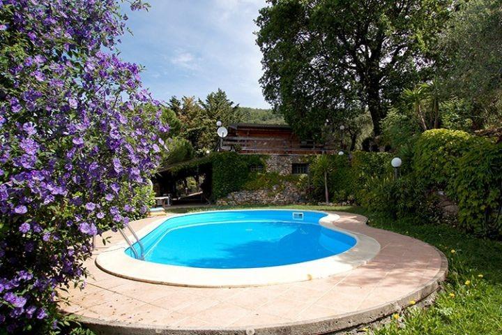 Pool mit Außenansicht