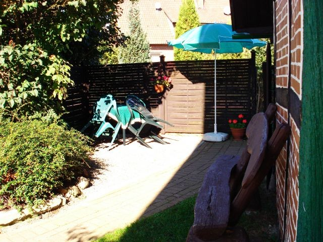 Sonnige Terrasse zum klönen und entspannen