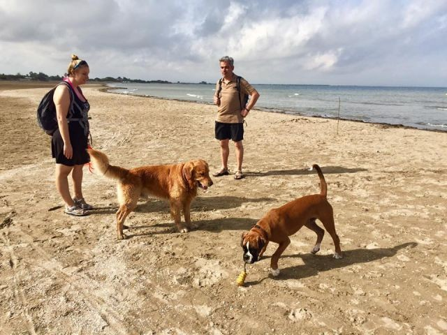 Der Hundestrand bei 26`C im Oktober
