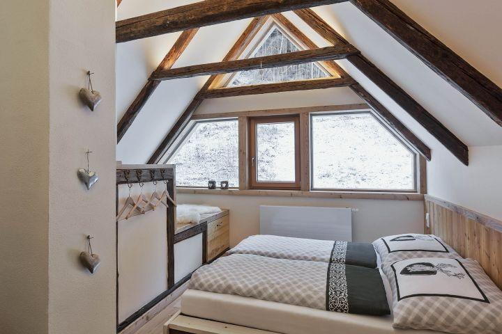 Bauernhaus Schlafzimmer Dachgeschoß