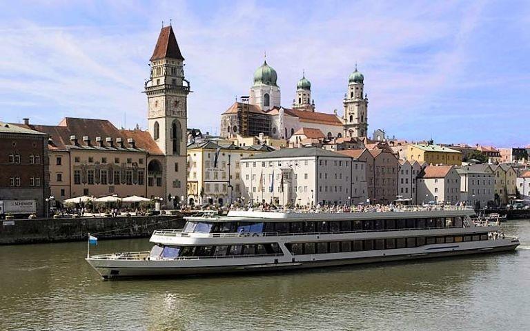 Malerisch: dreiflüssestadt Passau