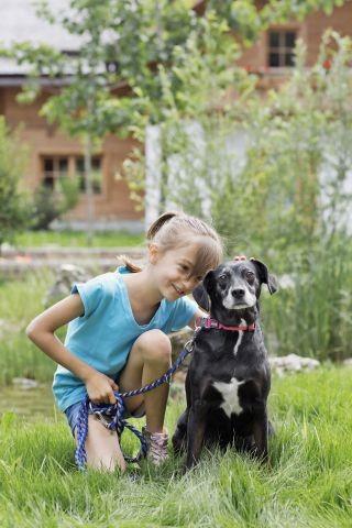 Hund im eigenen Garten