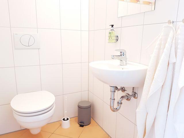 WC OG der Fewo-Flaschenpost