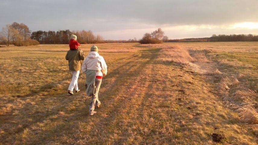 In der Nähe des Grundstücks - Spaziergang im März