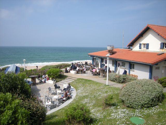 Restaurant am Strand bei Biarritz