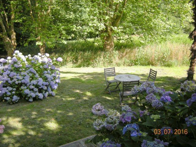 Ein schattiger Sitzplatz im Garten