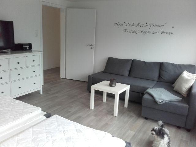 Wohnbereich im großen Schlafzimmer