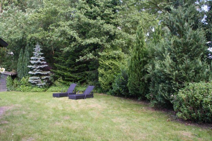 Liegen und Gartenmöbel sind vorhanden