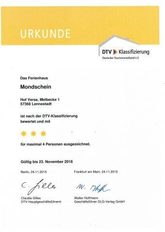 DTV Urkunde