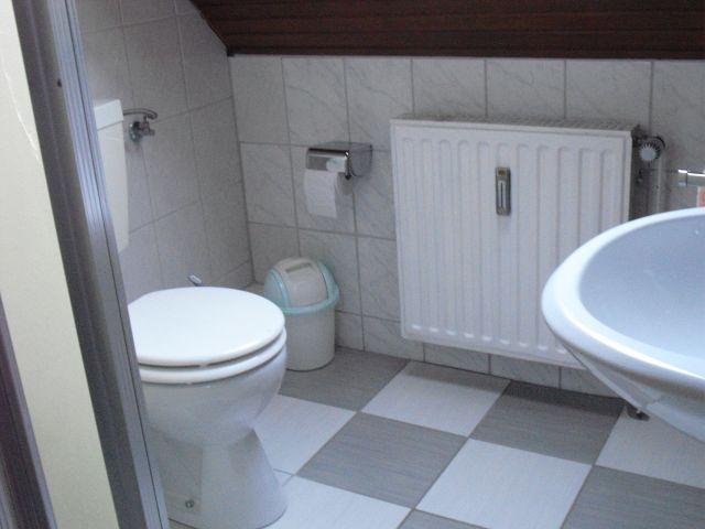 Blick in das Badezimmer