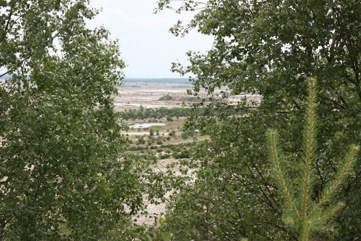 Blick in Bergbaufolgelandschaft