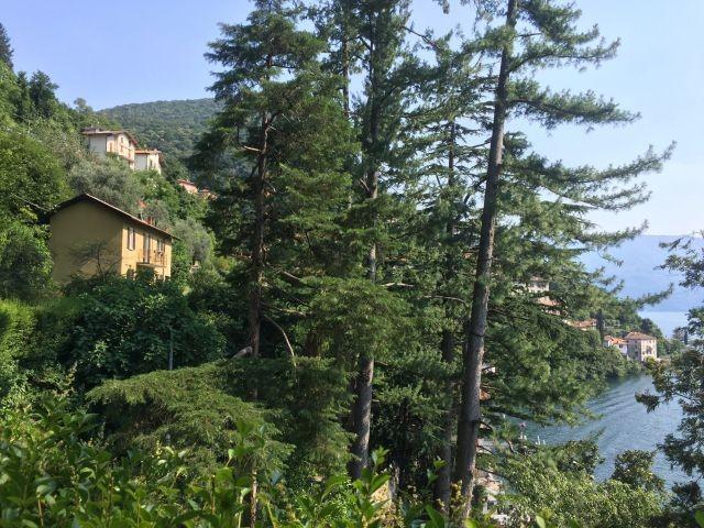Die Villa schwebt ueber den See
