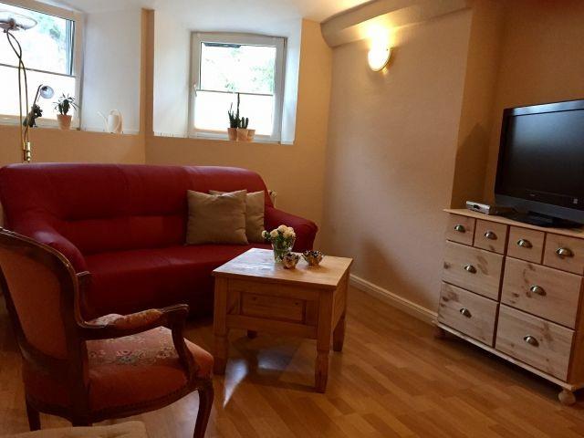 Wohnzimmer mit 2Einzelbetten