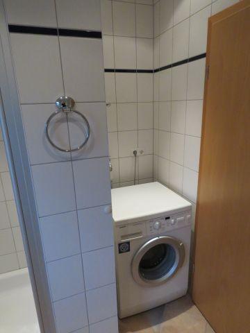 Waschmaschine im Gäste-WC