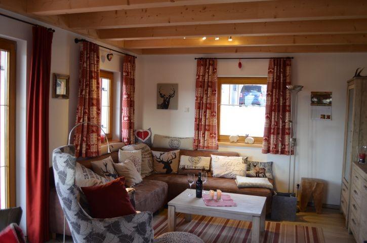 Wohnzimmer Ferienhaus Gamsbock