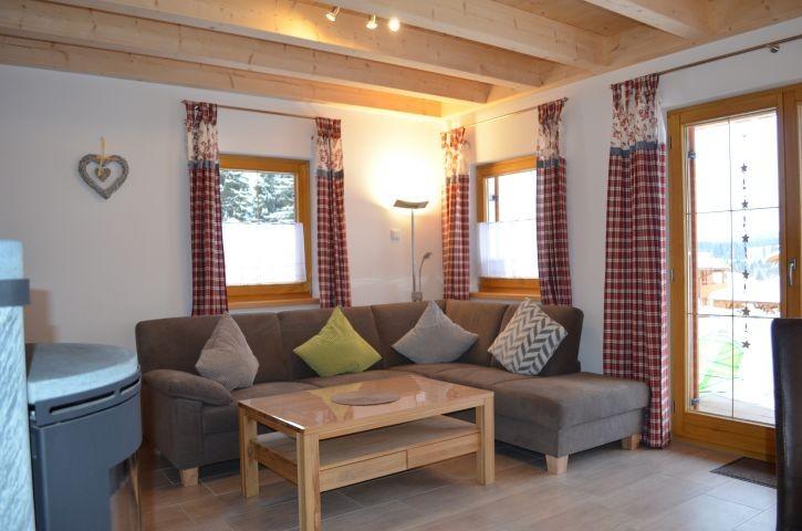 Wohnbereich Ferienhaus Alpensee