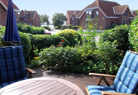 Blick von der Terrasse zur Ostsee
