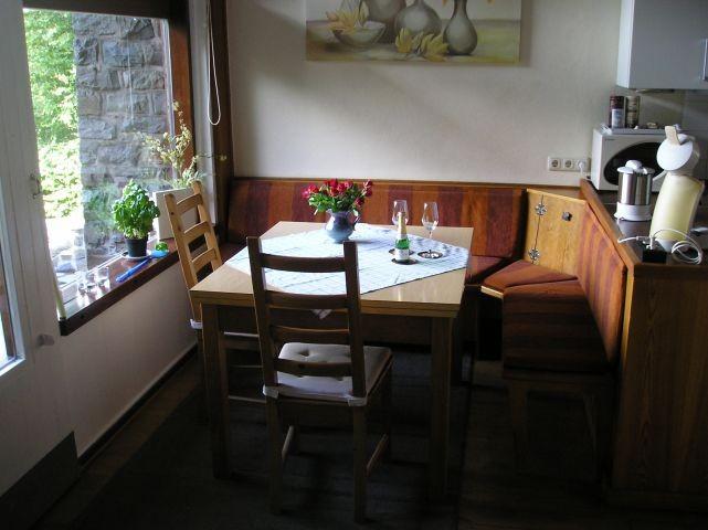Sitzgruppe Küche mit Panoramablick