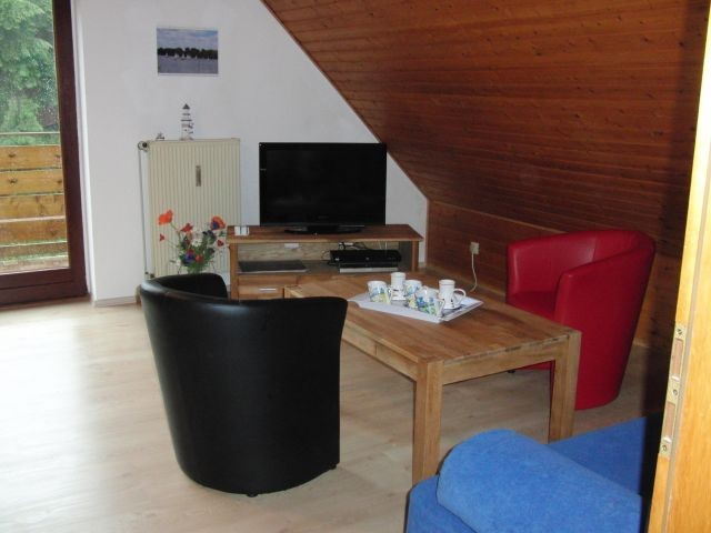 Wohnzimmer Sitzecke mit Fernseher