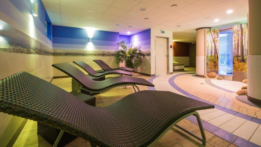 Ruhezone im Wellnessbereich