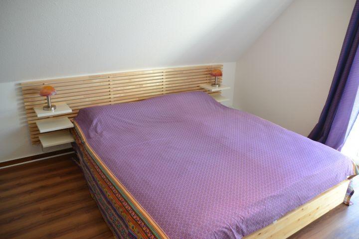 Schlafzimmer II Doppelbettschlafzimmer im Ferienhaus Lüttet Strandhuus in Kalifornien an der Ostsee