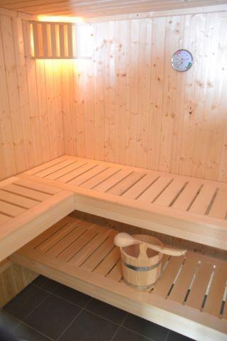 Sauna im Ferienhaus Lüttet Strandhuus in Kalifornien an der Ostsee