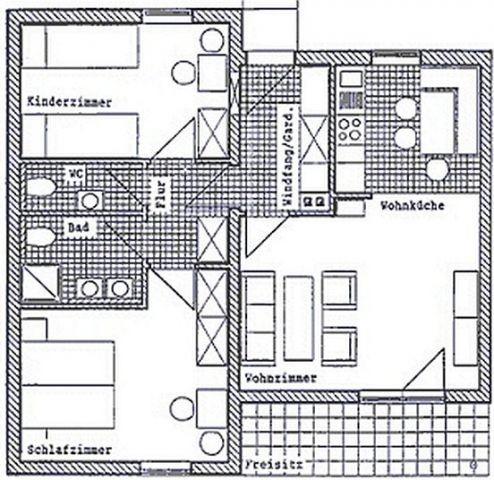 Grundriss des Haustyps