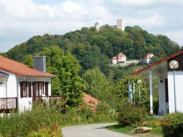 Blick zur Burg Falkenstein