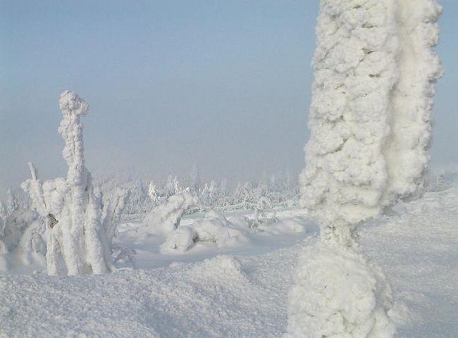 Schneeskulpturen am Ficchtelberg