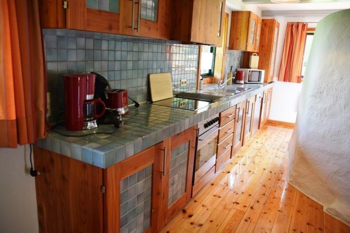 Küche im Ferienhaus Alte Backstube in Barsbek bei Schönberg
