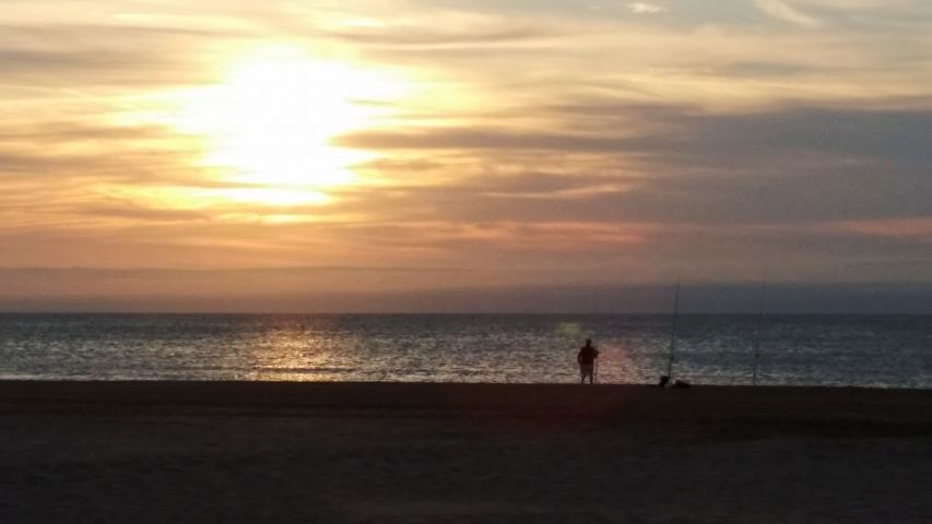 Sonnenaufgang Strand Narbonne-Plage