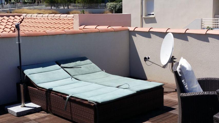 Sonnenliegen Dachterrasse