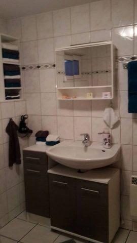 Duschbad mit WC.