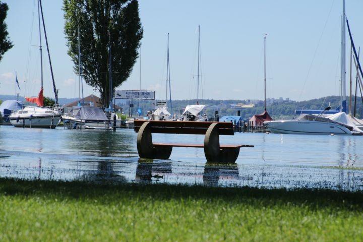 Hochwasser am See