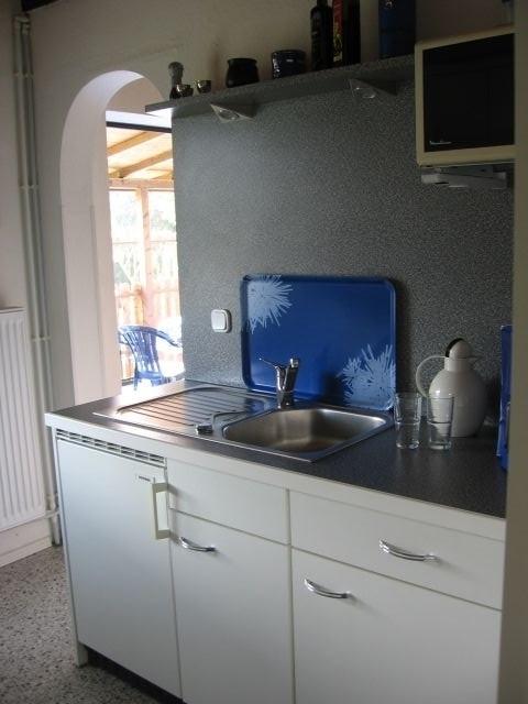 Von der Küche in zwei Schritten auf der Terrasse