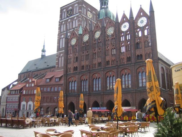 Rathaus am alten Markt in Stralsund