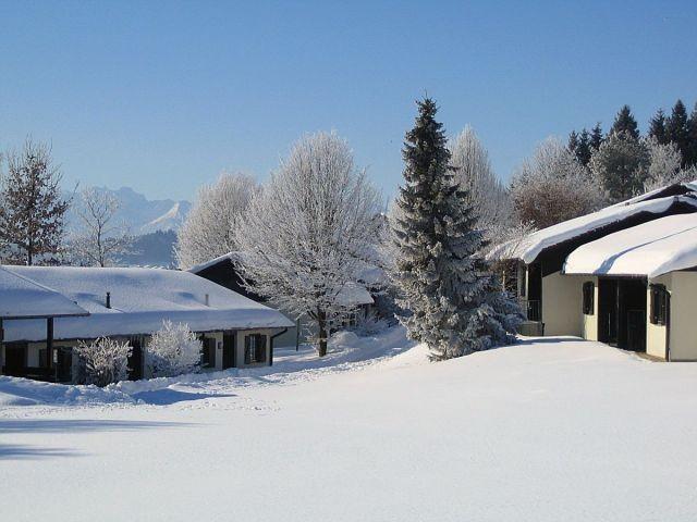 unser Feriedorf im Winterkleid