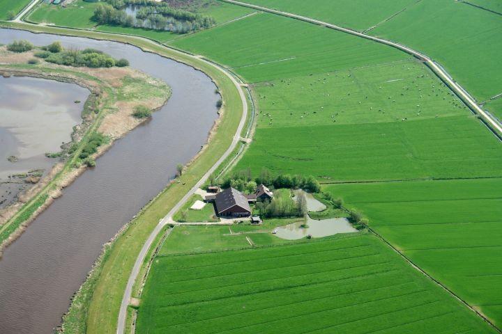 Luftbild / Lage des Hofes