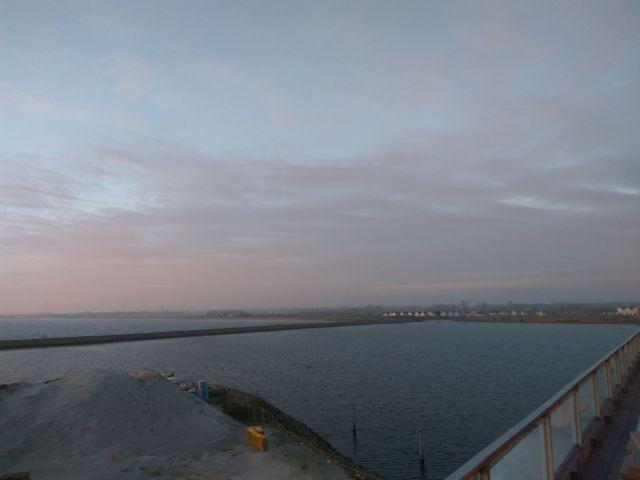 Blick auf die Hafeneinfahrt
