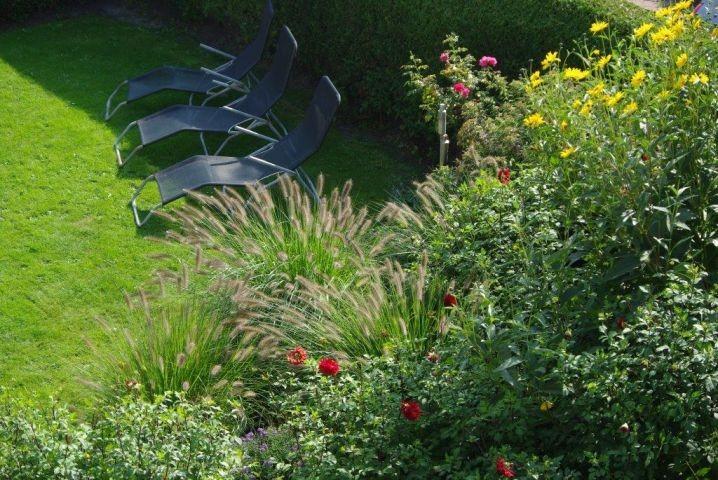 Sonnenliegen im Garten