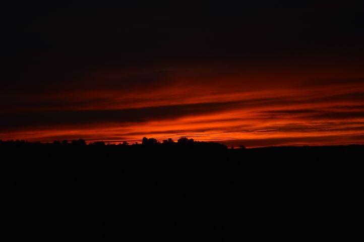 Sonnenuntergang in Tignécourt