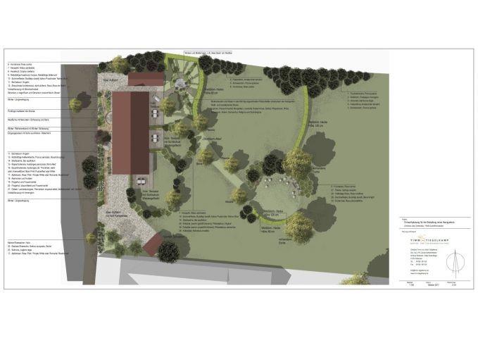 Gartenplanung - der mittlere Garten gehört zur FeWo BACKBORD